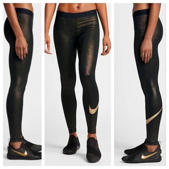 8888c60b40dd4 Nike Pants | Pro Sparkle Glitter Training Tights Leggings | Poshmark